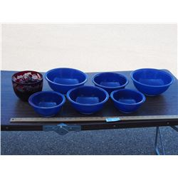Pyrex Mixing Bowls, plus Decorative Items