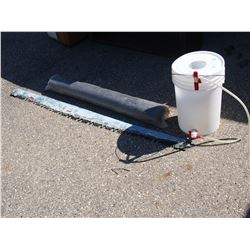 "Painted Saw Blade (No Handle) 65""L, Landscaping and Pail Spout"