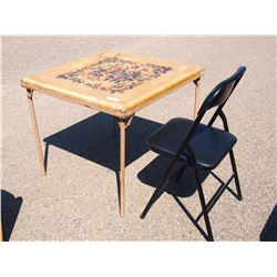 "Folding Table with Chair 30"" by 30"""