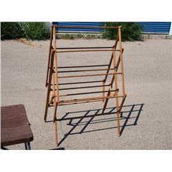 Folding Wooden Clothes Rack