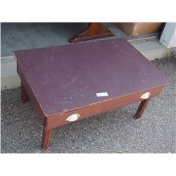 "Wooden Table with Drawer 35 by 22 by 16""T"