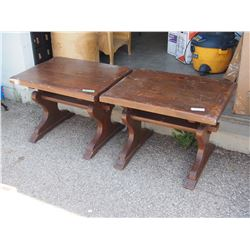 "2X THE MONEY - Wooden Tables 28 by 21 by 20"" T"