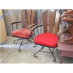 Heavy Built Chairs (2) Both Swivel