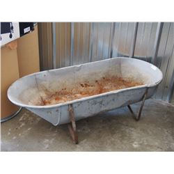 "Vintage Galvanized Tub 54"" L by 24"" W"
