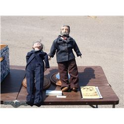 "2X THE MONEY - Hand Sculpted Polymer Clay Louis Reil 24"" T Dolls Sign by Artist and Misc"
