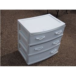 """3 Drawer Plastic Organizer 23.5 by 16 by 24"""" T"""
