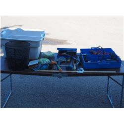 4 Dremels, Multi Meter, Assorted Hand Tools with Plastic Tote
