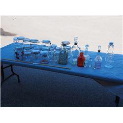 Glass Storage Jars, and Decorative Bottles