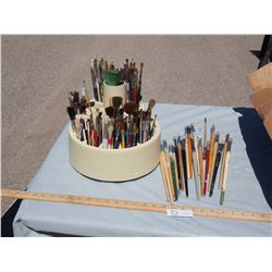Paint Brushes and Holder