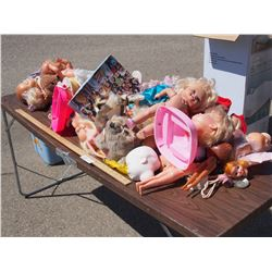 Lot of Dolls and Doll Parts