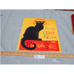 French Black Cat Sign
