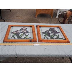 "2X THE MONEY - Stained Glass Windows 15.75"" by 17.75"""