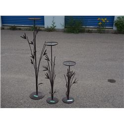 3 Iron Ornamental Stands