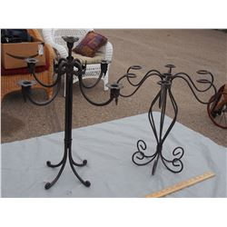 "2 Ornamental Holders 21"" and 16"" T"