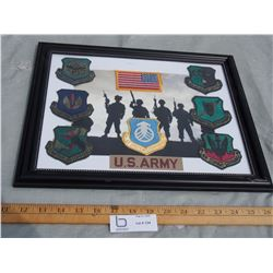 Framed Military Themed Patches or Badges