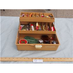 Vintage Tackle Box with Tackle Contents