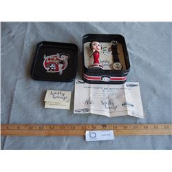 Betty Boop Limited Edition Watch Figurine and Tin