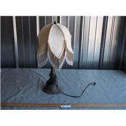 "Lamp with Fringe Shade 21"" T"