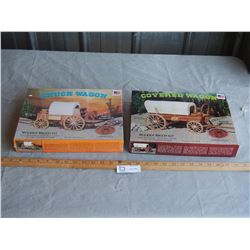 2X THE MONEY - All Wood Brand Kits, Chuck Wagon and Covered Wagon (1 Sealed)