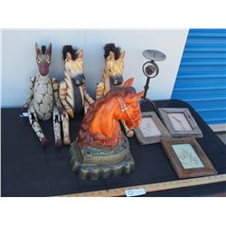 Horse Related Items and Decorative Items