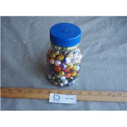 Small Jar with Marbles