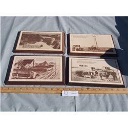 4 Wooden Plaques
