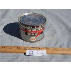 Vintage Chase and Sanborn Coffee Tin (1/2 Lbs)