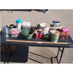 Mixed Lot of Tins, Baskets and etc.