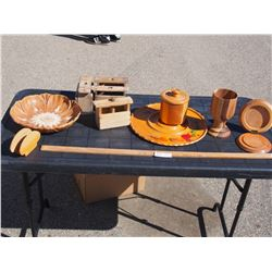 Wooden Related Items (Butter Press, Trays and etc.)