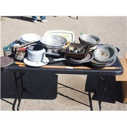 Lot of Enamelware and Misc