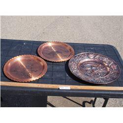 3 Copper Plates