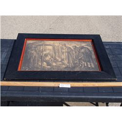 """Religious Picture in Frame 27.5 by 20.75"""""""