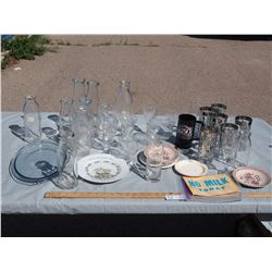Misc Lot of Glassware