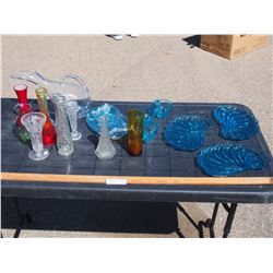 Misc Lot of Blue Glassware and etc