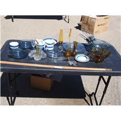 Lot of Misc Glassware, Pyrex Pots, Casserole Dishes and Misc.