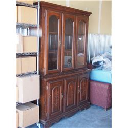 """2 Piece China Cabinet 48"""" W by 74"""" T by 17"""" D"""