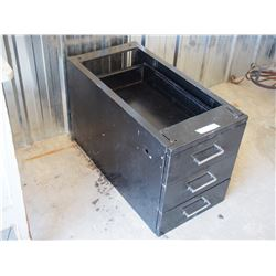 """Metal Filing Cabinet 3 Drawer 15 by 30 by 18.5"""""""
