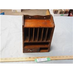 "Small Wooden Display Cabinet 7.75"" by 9.75"""