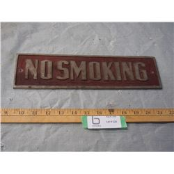 "No Smoking Metal Sign 12.75 by 3.5"" W"