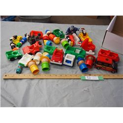Box of Plastic Toys