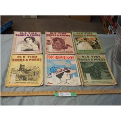 6 1968 Old Time Songs and Poems Booklets