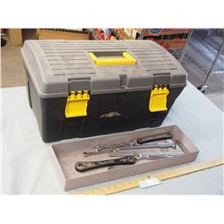 Plastic Tool Box with a Few Toys