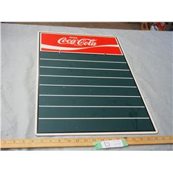 Coke Menu Chalk Board