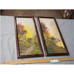 2X THE MONEY - Oil Pastel J. Orth Pictures in Frames