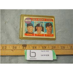 Braves 1969 Rookie Stars Card