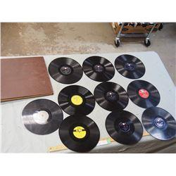 Storage Case of 8 78 Records (Record List in Description)