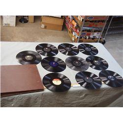 Storage Case of 10 78 Records (Record List in Description)