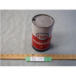 Esso Mineral Lube 1 Quart Oil Can
