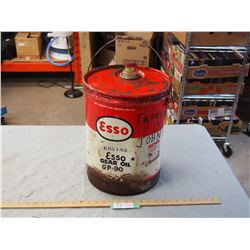 Esso Gear Oil Oil Pail 5 Imperial Gal