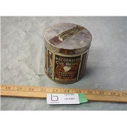 Macdonalds Cut Brier One Half Pound Tobacco Tin